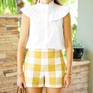 ANN TAYLOR NEW Gingham Plaid High Waist Shorts